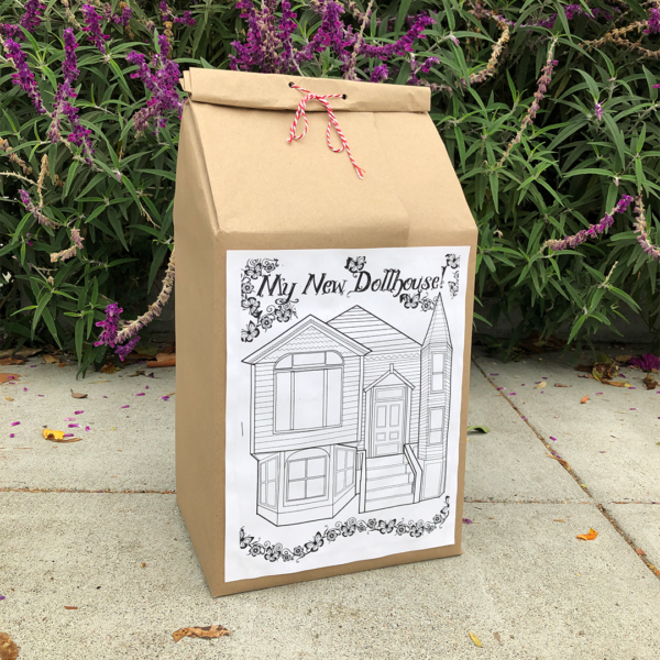 The shipping package for the Dollhouse kit